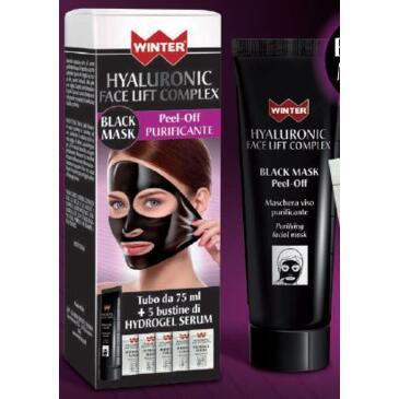 Hyaluronic Face Lift Complex - Black Mask 75 ml (+5 bustine da 3ml cd di hydrogel serum) Winter
